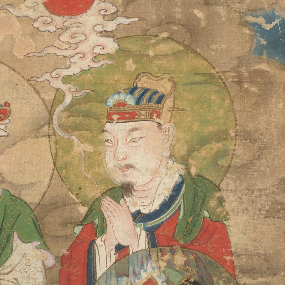 Anonymous: Three Buddhist Figural Painting Fragments - 7