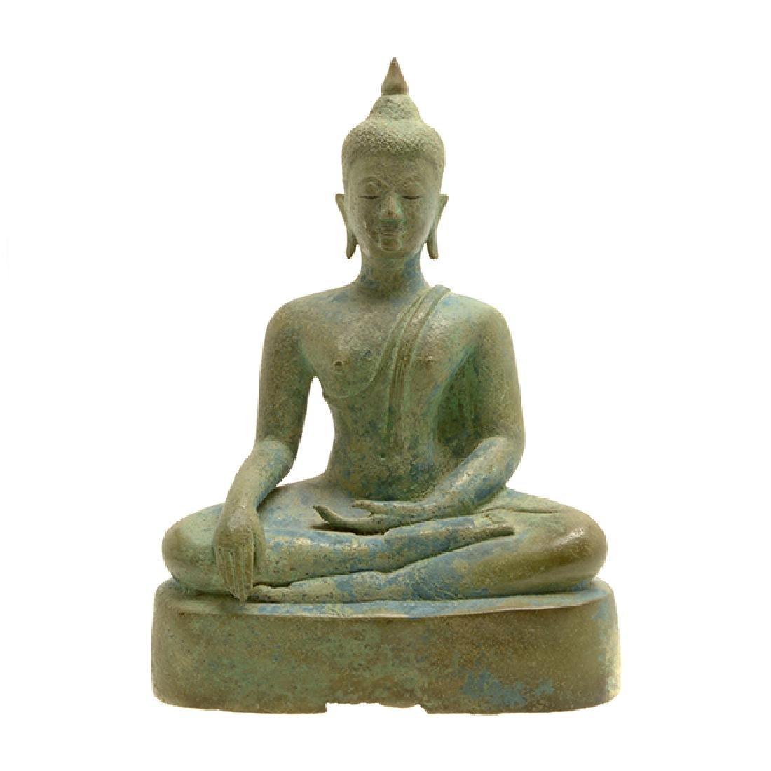 Thai Bronze Figure of Buddha, Sukhothai Period (15th