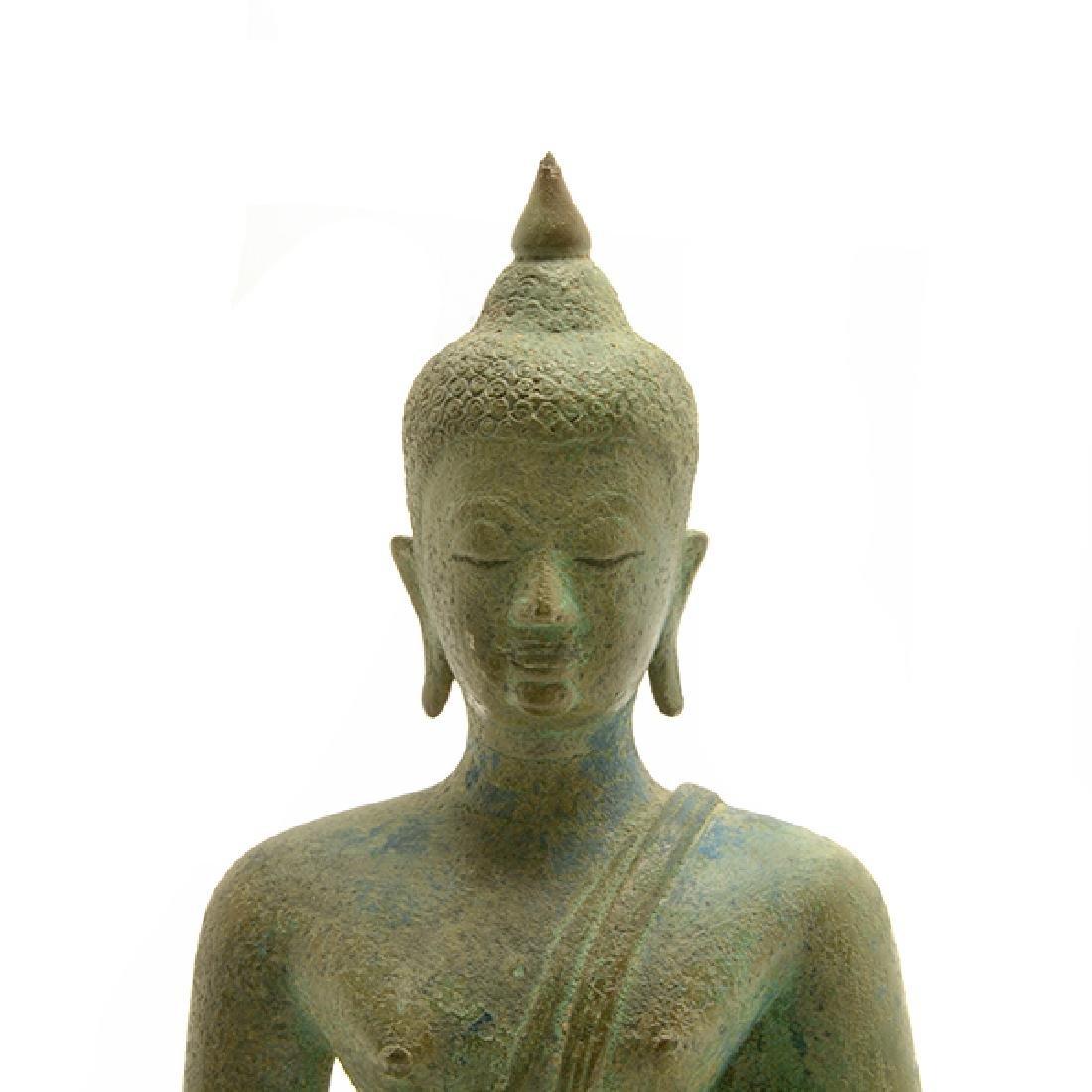 Thai Bronze Figure of Buddha, Sukhothai Period (15th - 5