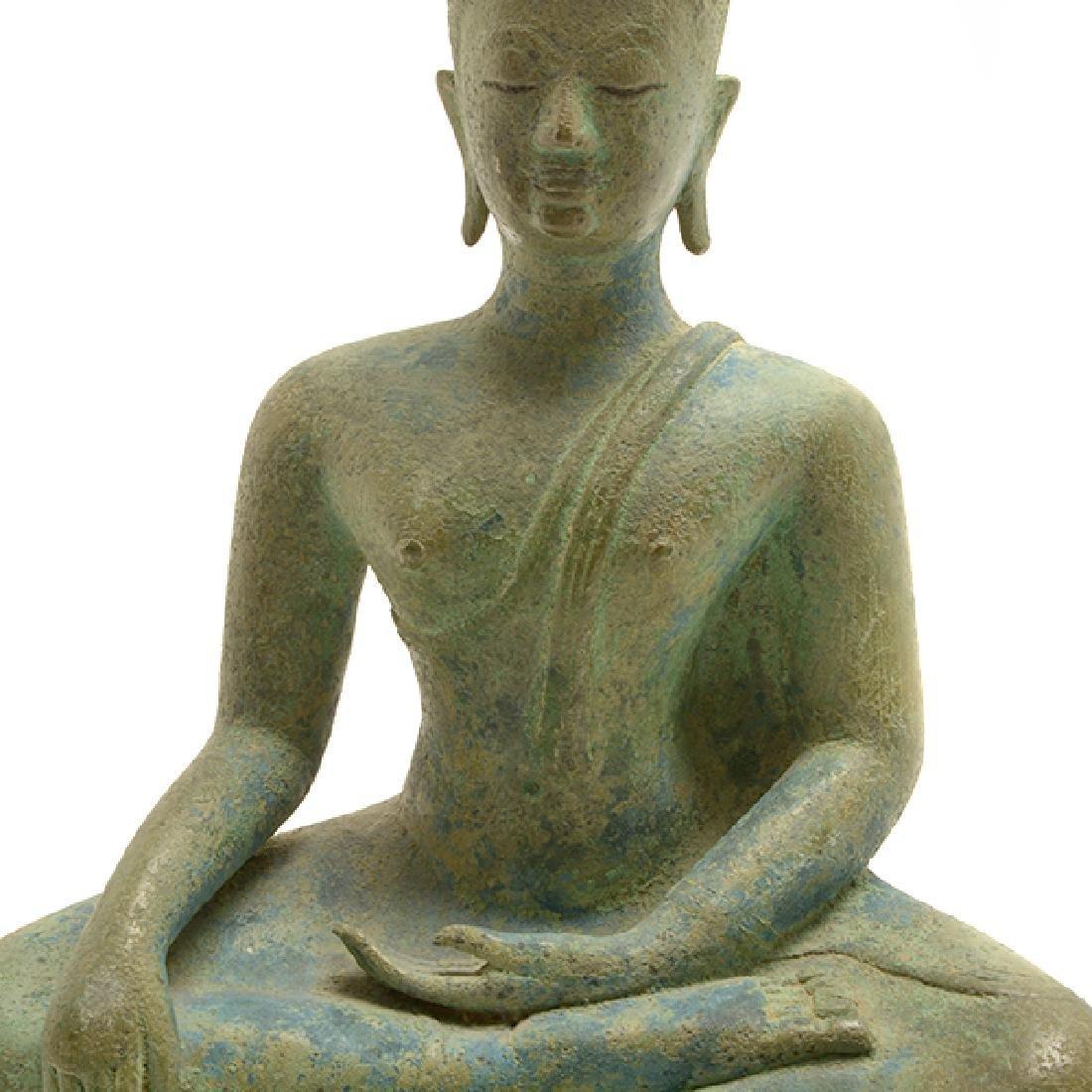 Thai Bronze Figure of Buddha, Sukhothai Period (15th - 6
