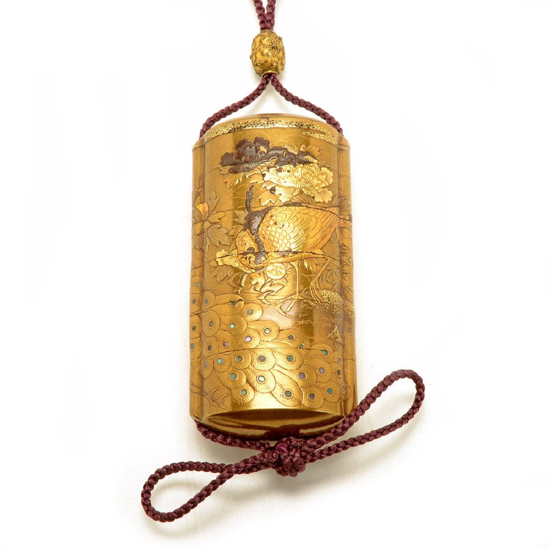 Five-Case Gilt-Decorated Lacquer Inro, 19th Century - 2