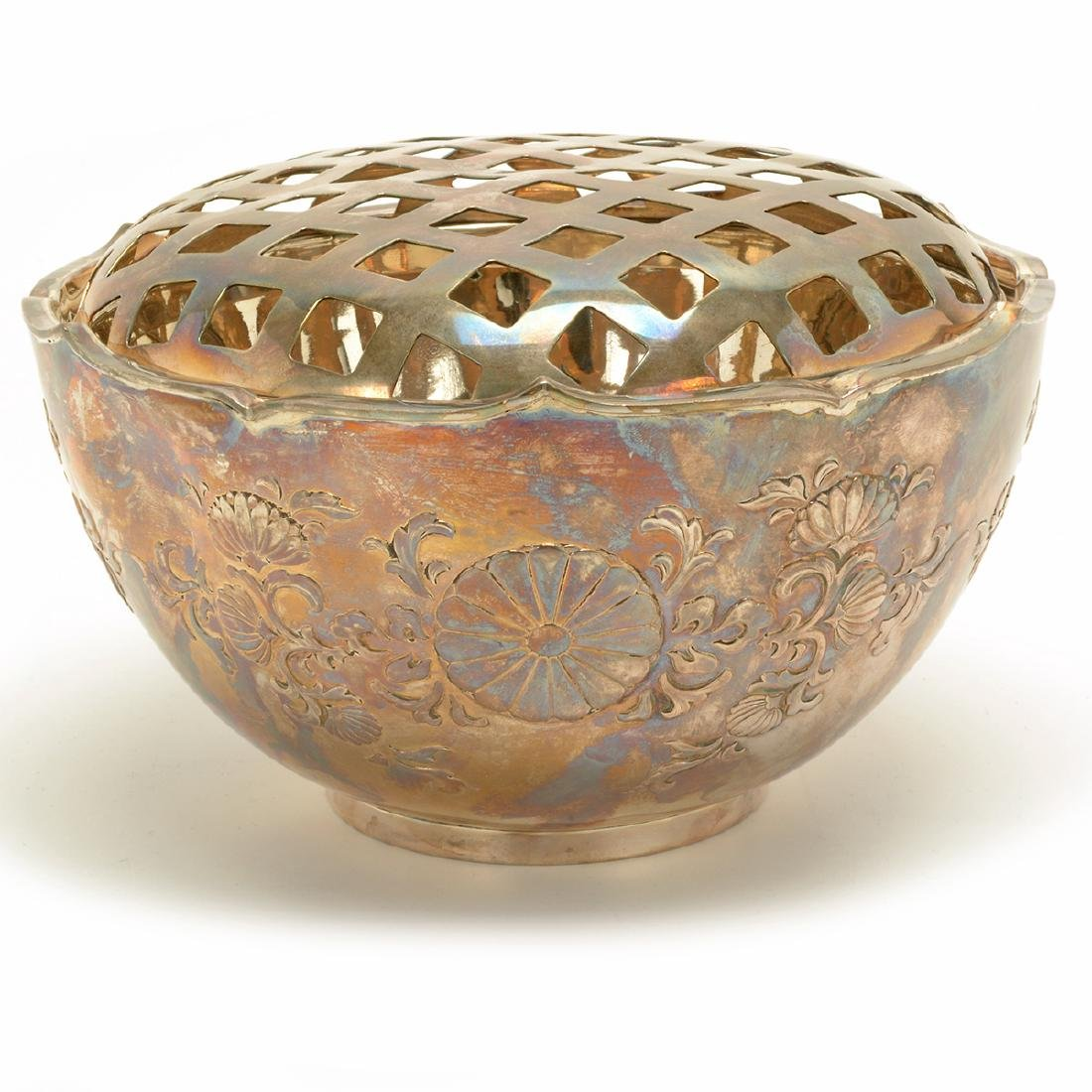 Foliated Silver Bowl and Lid, Early 20th Century