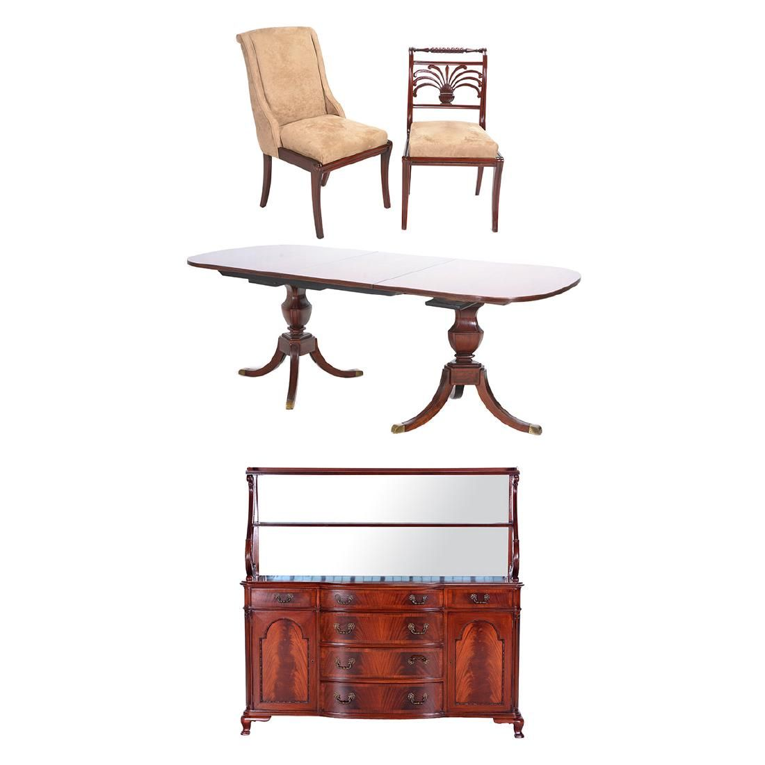Schmieg and Kotzian Regency Style Mahogany Dining Suite