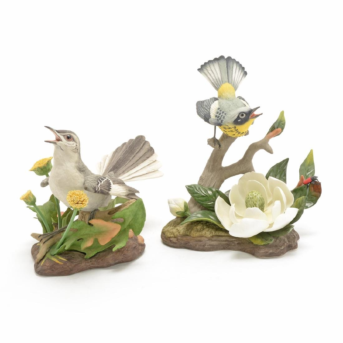 Two Porcelain Bird Figures by Edward Marshall Boehm