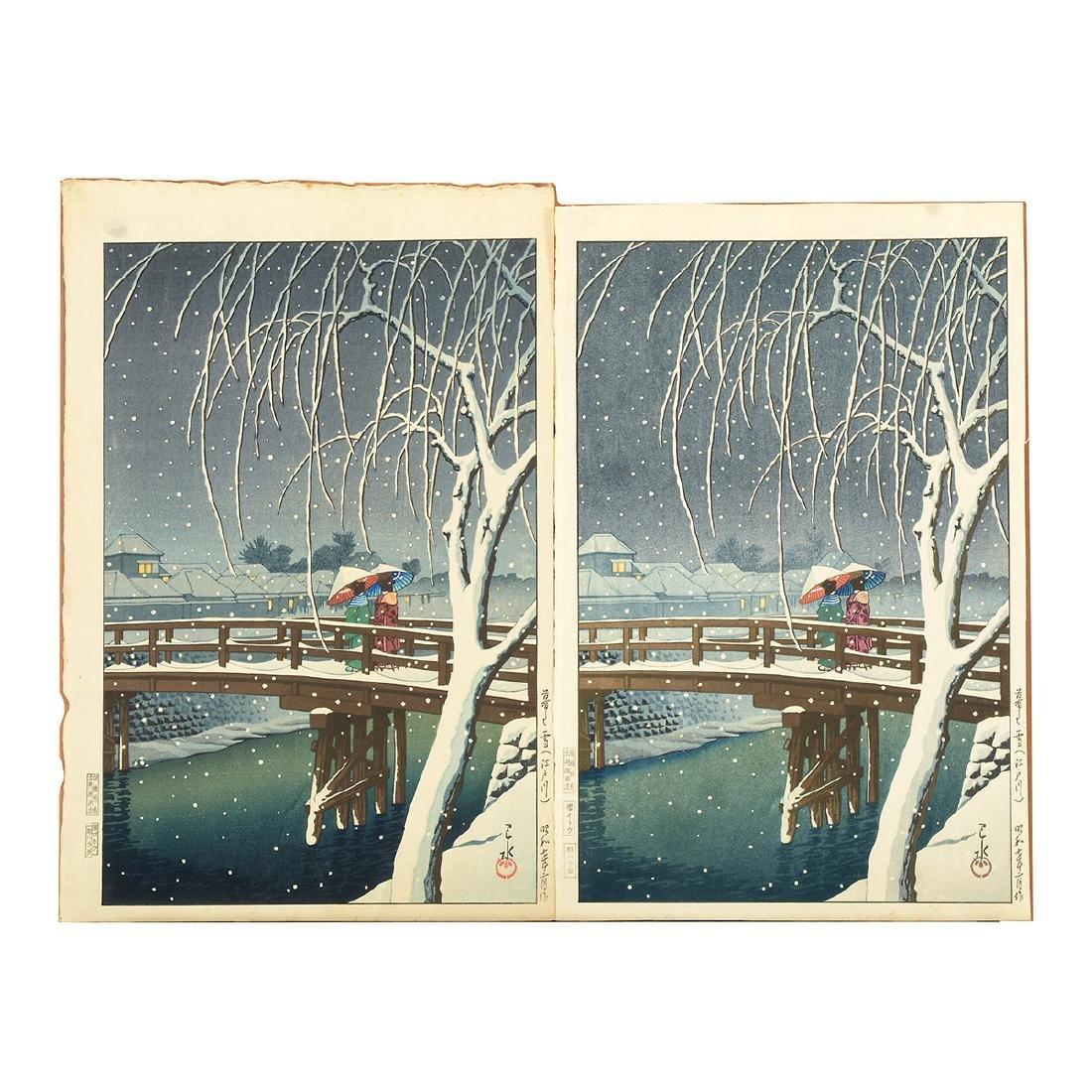 Kawase Hasui (1883-1957): Two Woodblocks