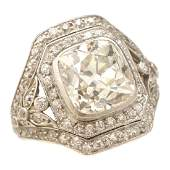 Edwardian Diamond PlatinumTopped 18k Yellow Gold