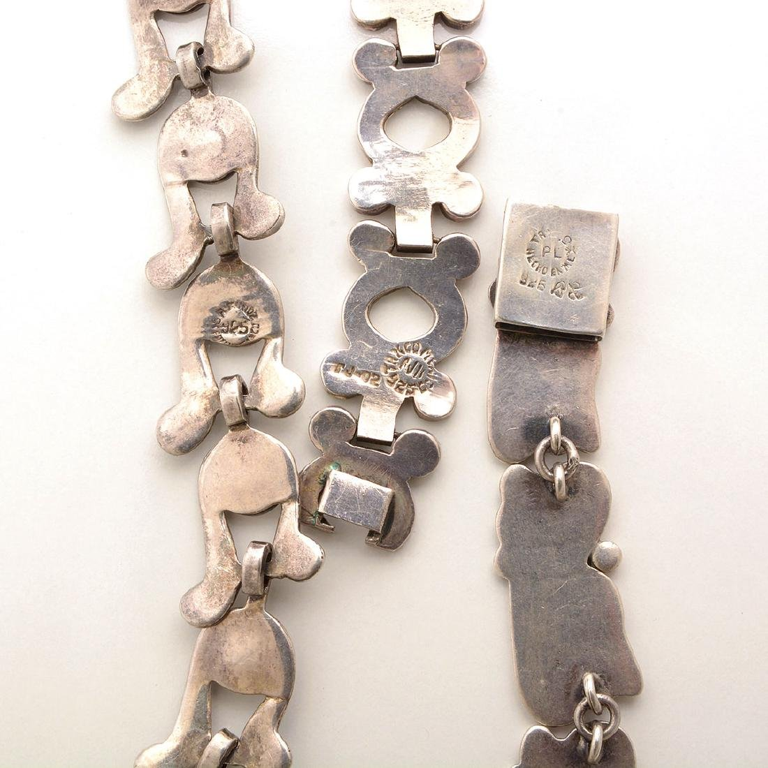 Collection of Three Mexican Sterling Silver Necklaces. - 5