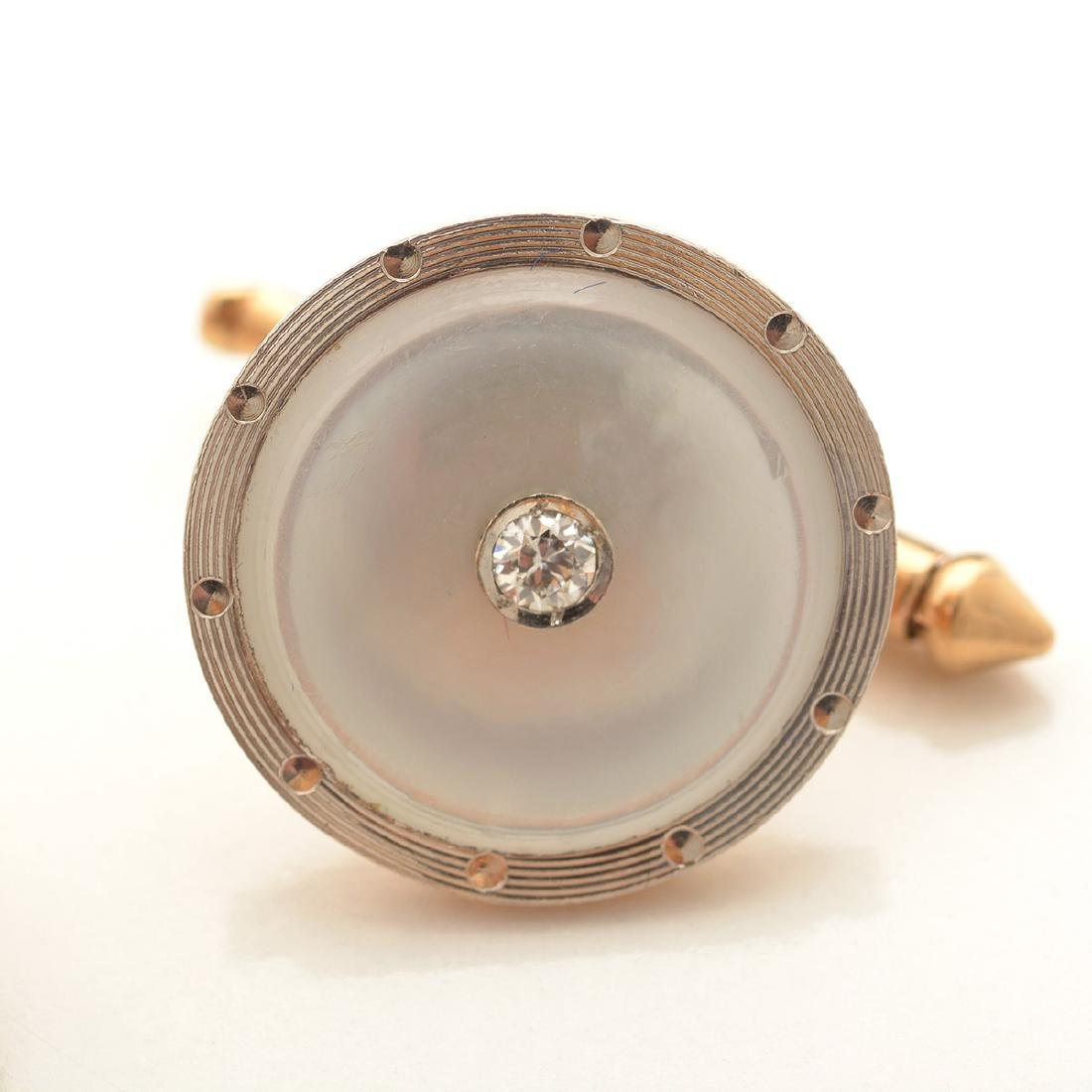 Gent's Diamond, Mother-of-Pearl, 14k Yellow Gold, - 3