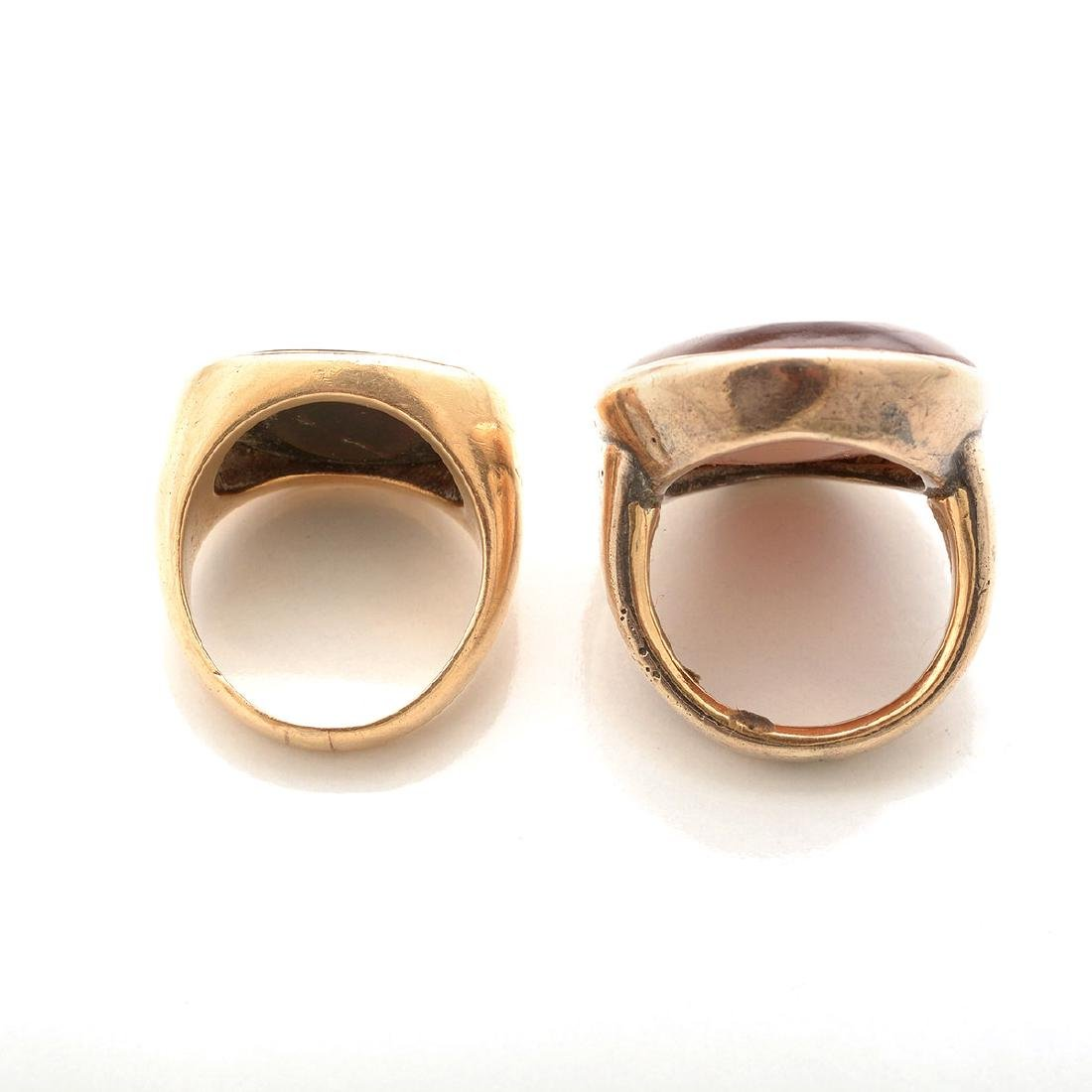 Collection of Two Multi-Stone Intaglio, Yellow Gold - 4