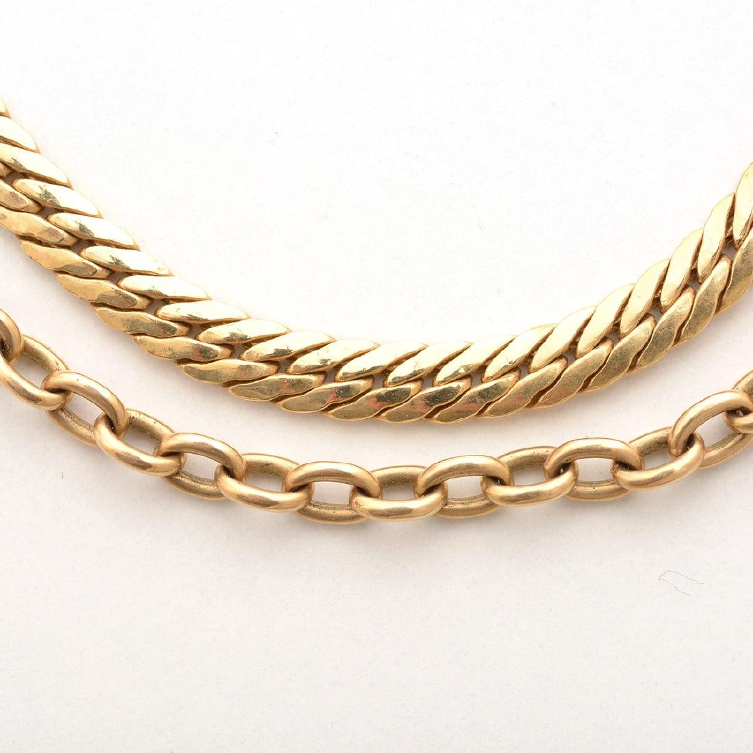 Collection of Two 14k Yellow Gold Neck Chains. - 2