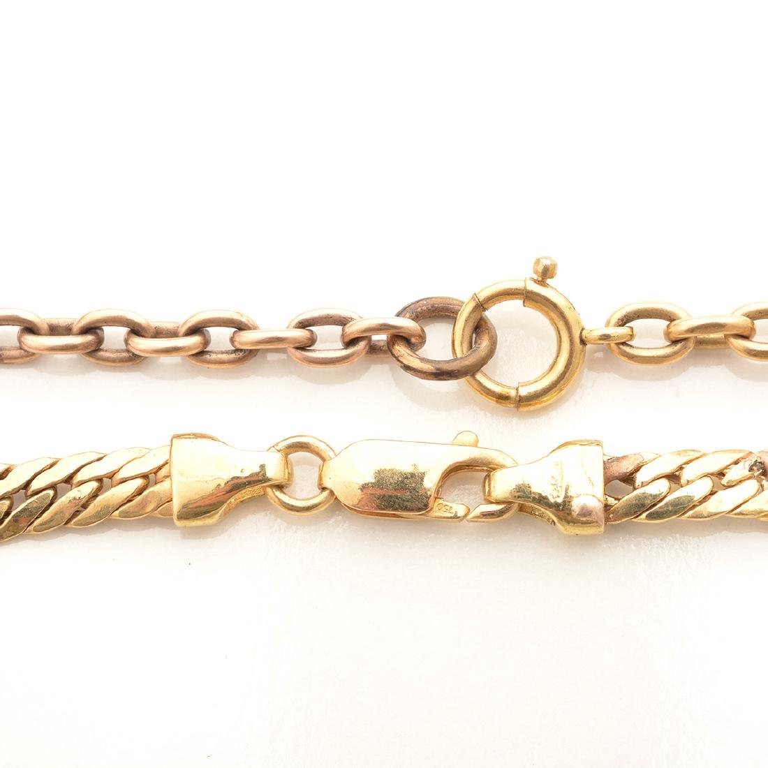 Collection of Two 14k Yellow Gold Neck Chains. - 3