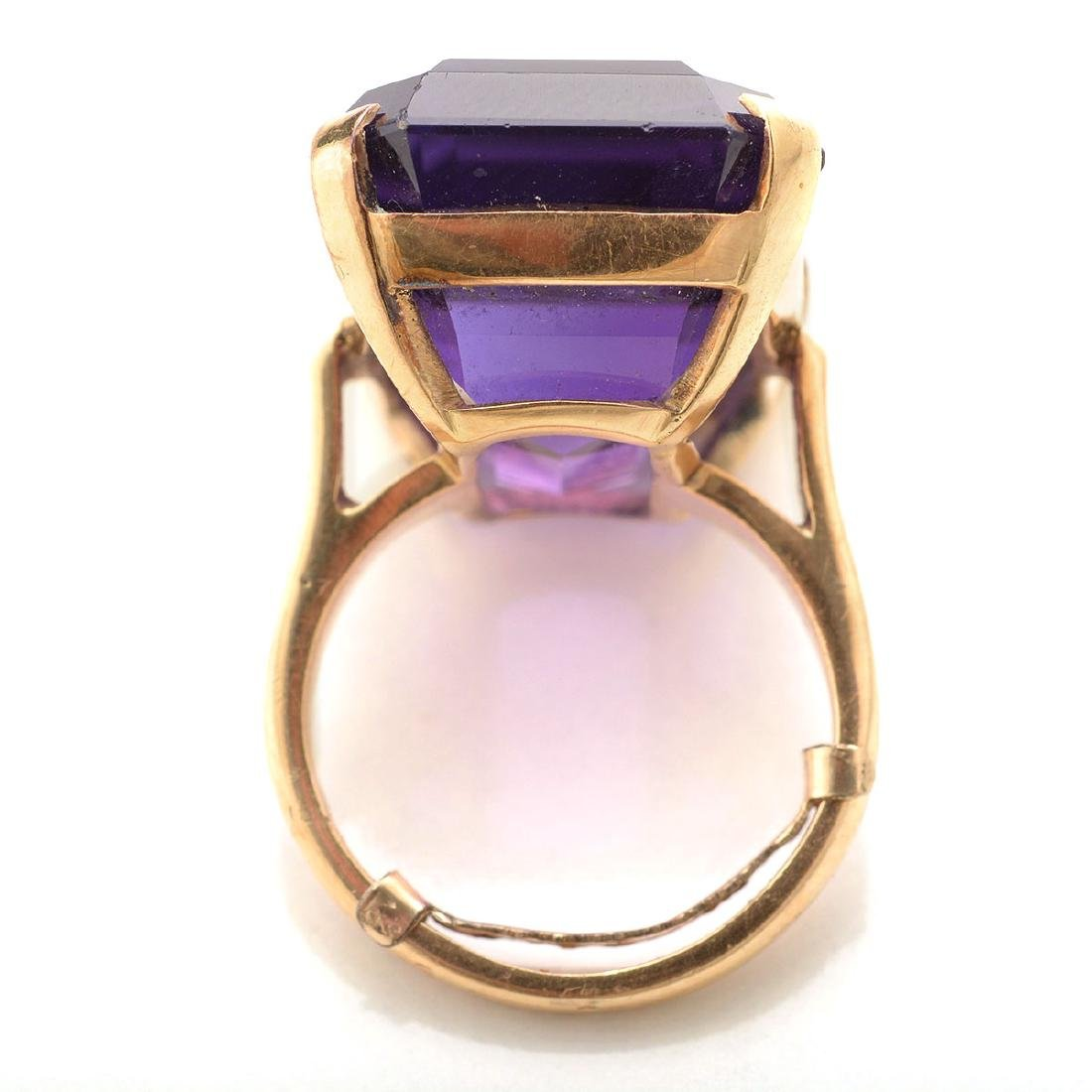 Amethyst, 14k Yellow Gold Ring. - 3