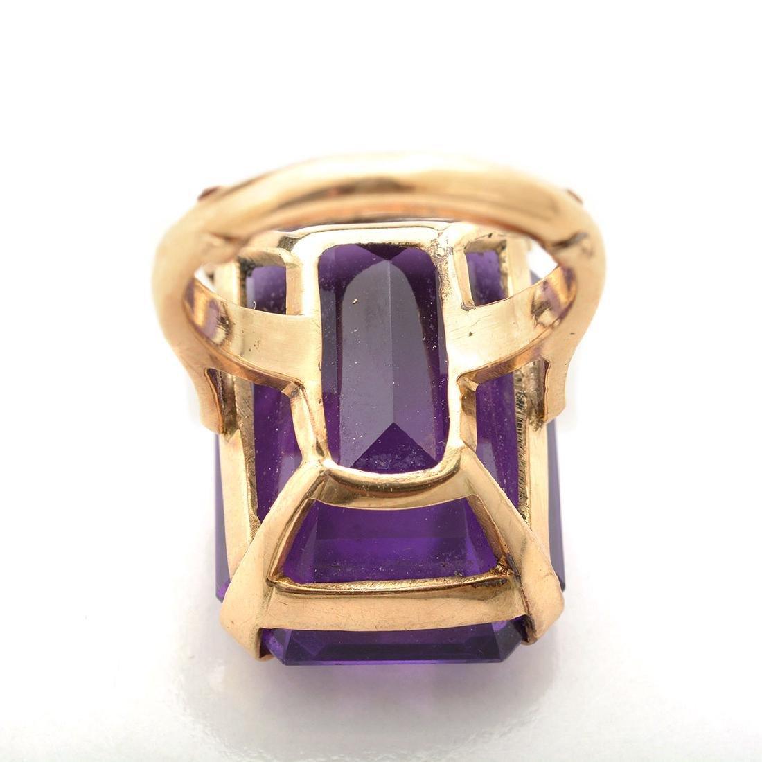 Amethyst, 14k Yellow Gold Ring. - 4