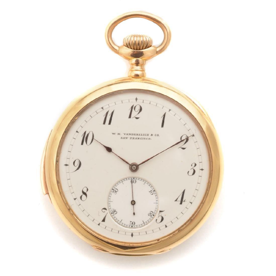 W.K. Vanderslice & Co. 18k Yellow Gold Minute Repeater