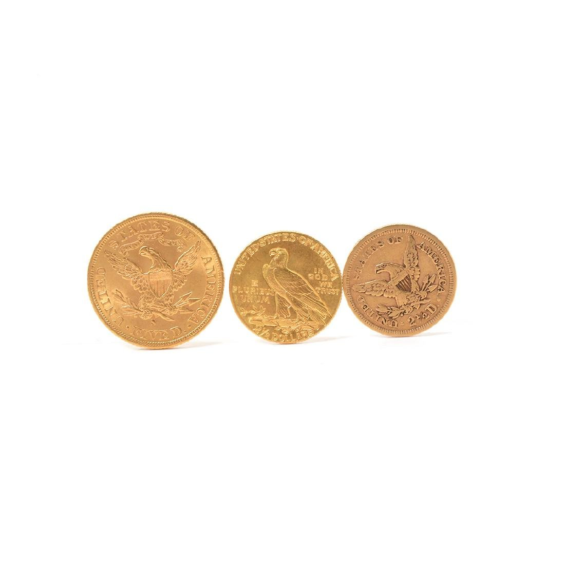Lot of 3 US Gold Coins - 2