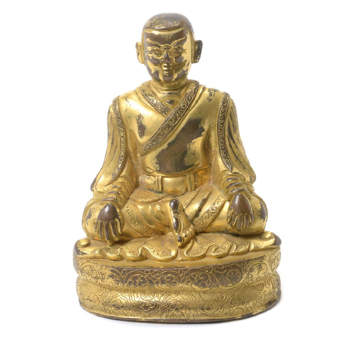 Gilt Bronze Figure of a Lama