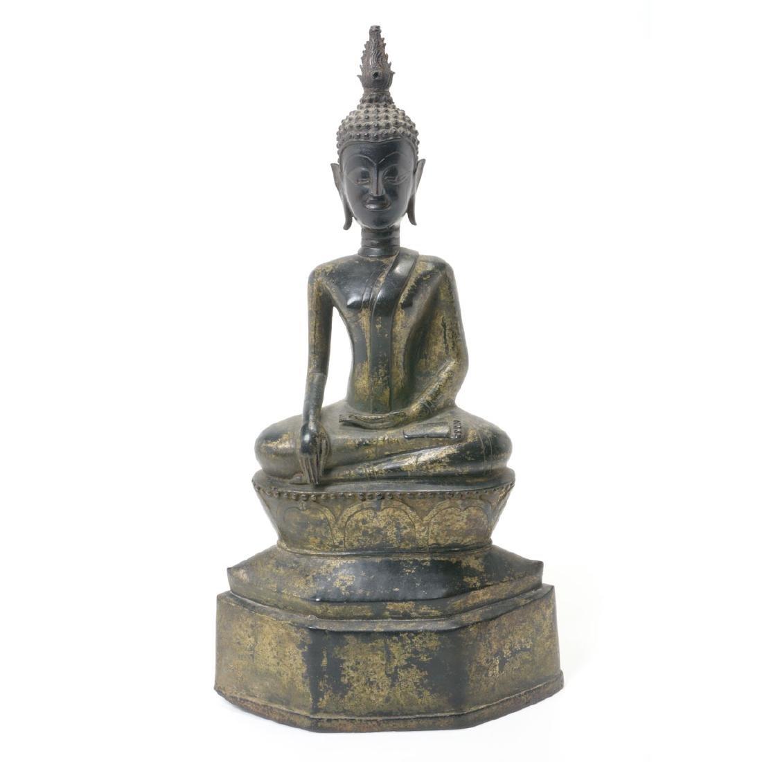 Thai Gilt Bronze Figure of Buddha, 19th Century