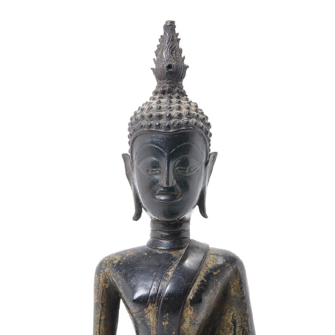 Thai Gilt Bronze Figure of Buddha, 19th Century - 2