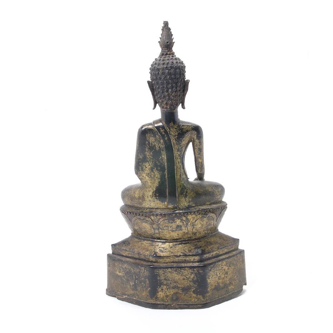 Thai Gilt Bronze Figure of Buddha, 19th Century - 4