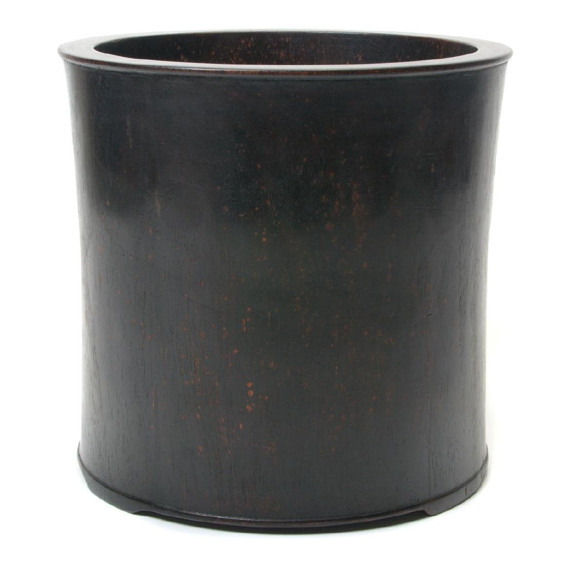 Large Hardwood Brush Pot