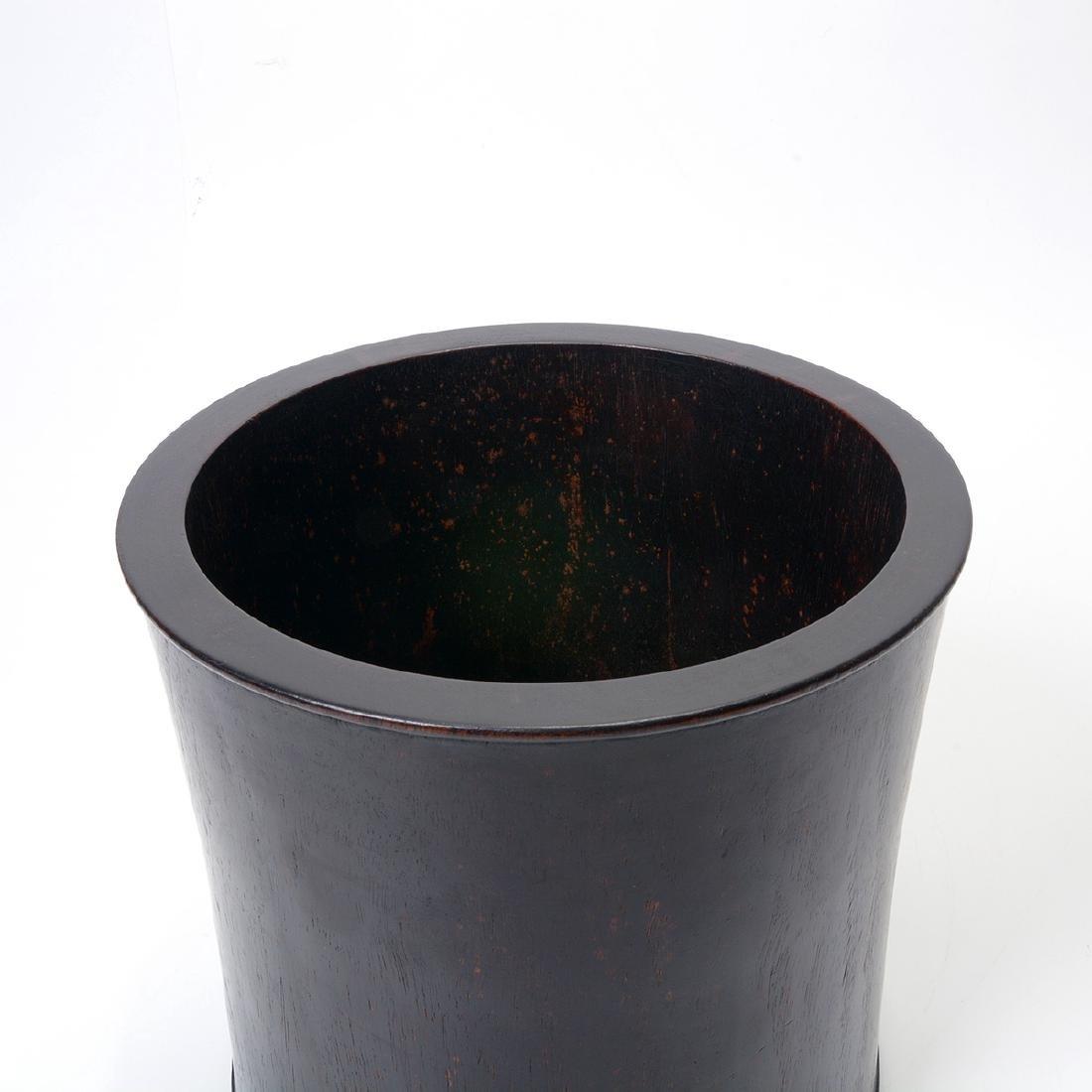 Large Hardwood Brush Pot - 2
