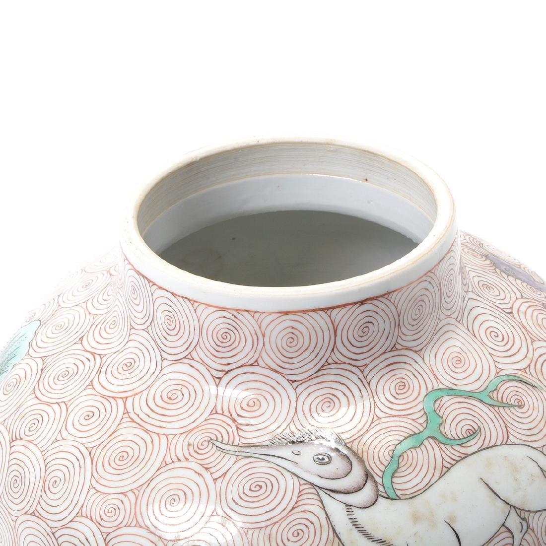 Famille Verte Covered Jar, Kangxi Period - 5