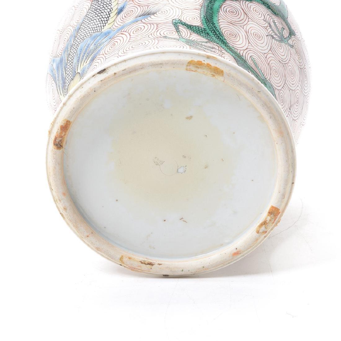 Famille Verte Covered Jar, Kangxi Period - 6