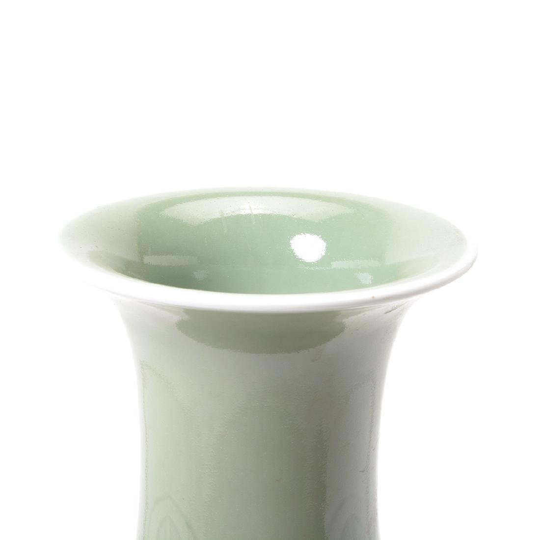Celadon Glazed Baluster Vase, 19th Century - 2