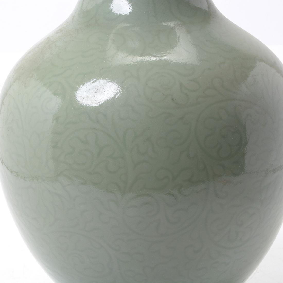 Celadon Glazed Baluster Vase, 19th Century - 3