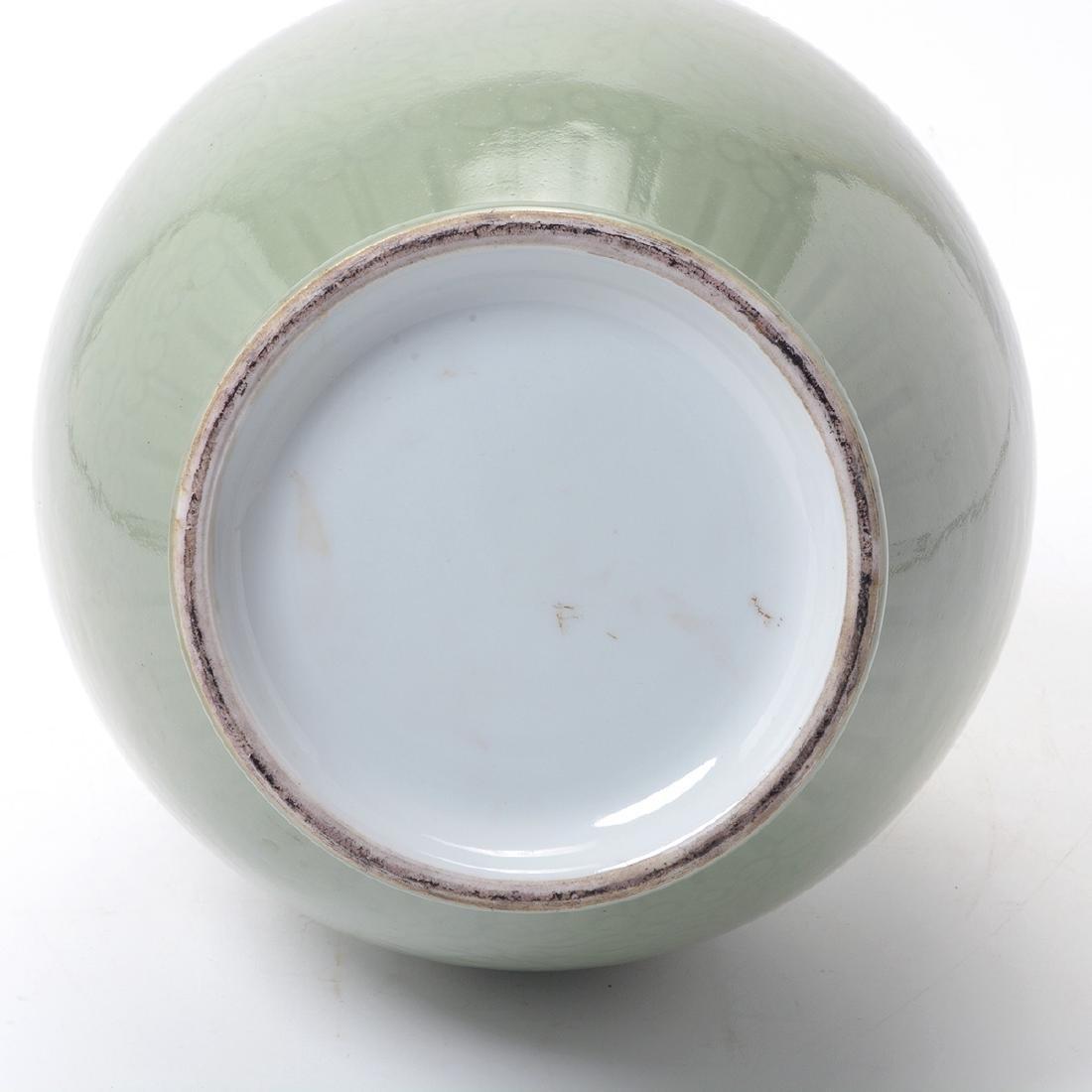 Celadon Glazed Baluster Vase, 19th Century - 4