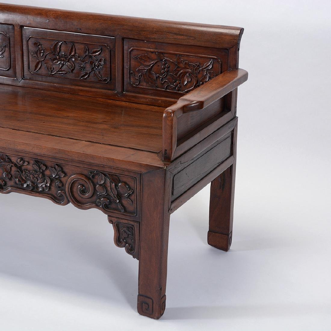 Rosewood Bench, 19th Century - 2