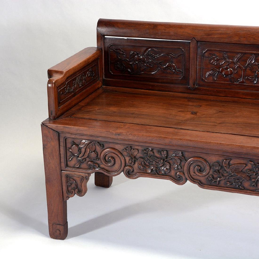 Rosewood Bench, 19th Century - 3