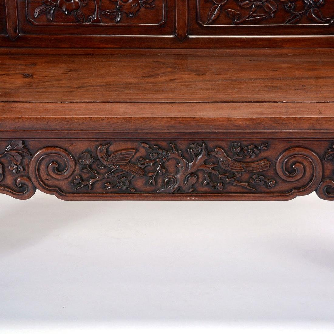 Rosewood Bench, 19th Century - 4