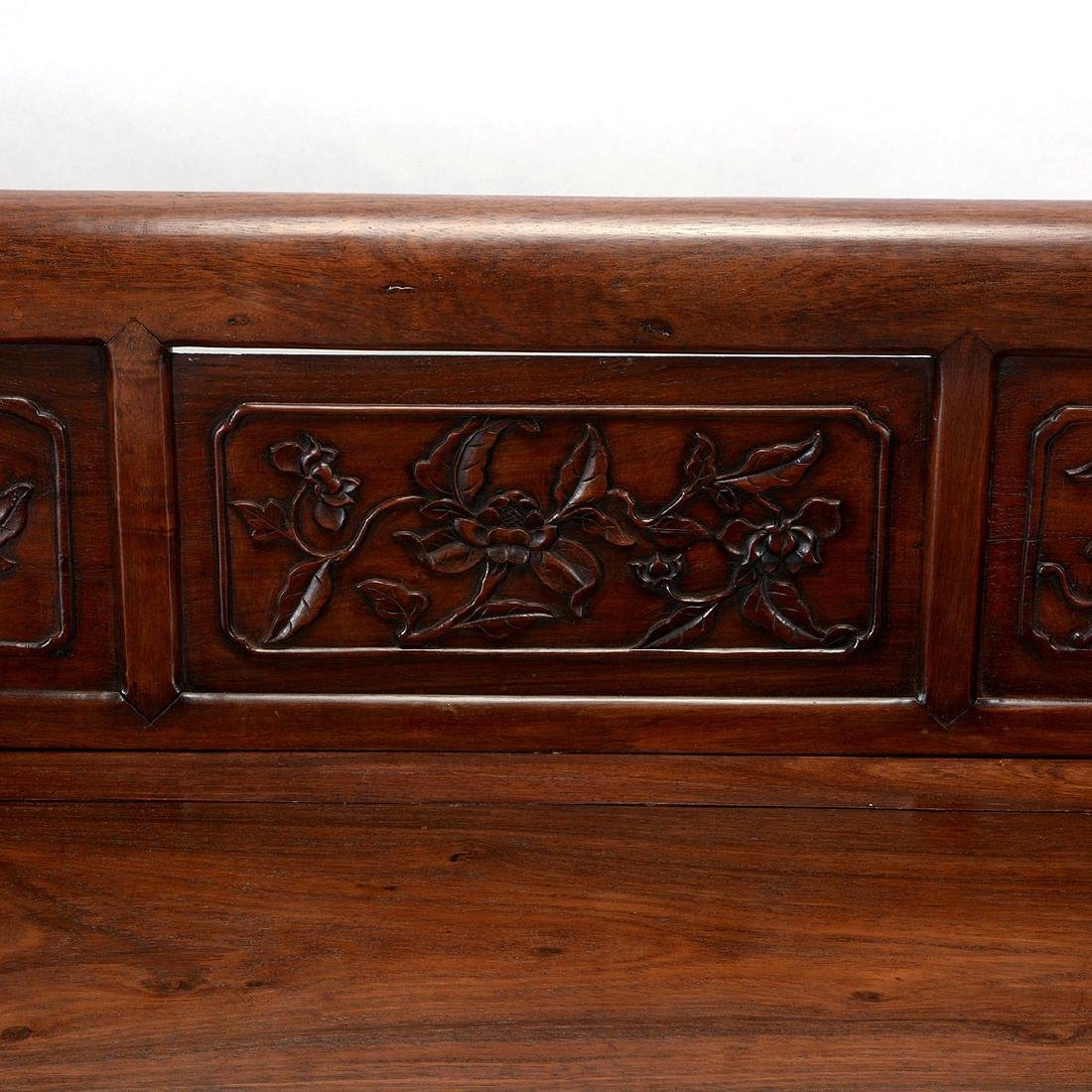 Rosewood Bench, 19th Century - 5