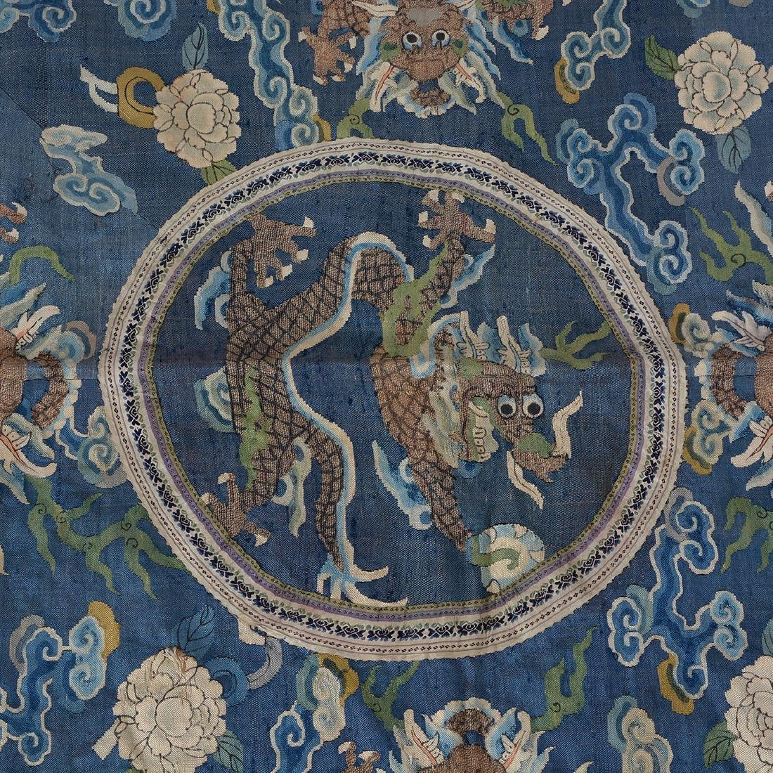 Three Embroidered Silk Panels - 2