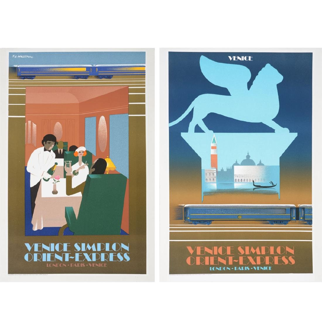 After Pierre Fix-Masseau 2 lithograph posters of Venice