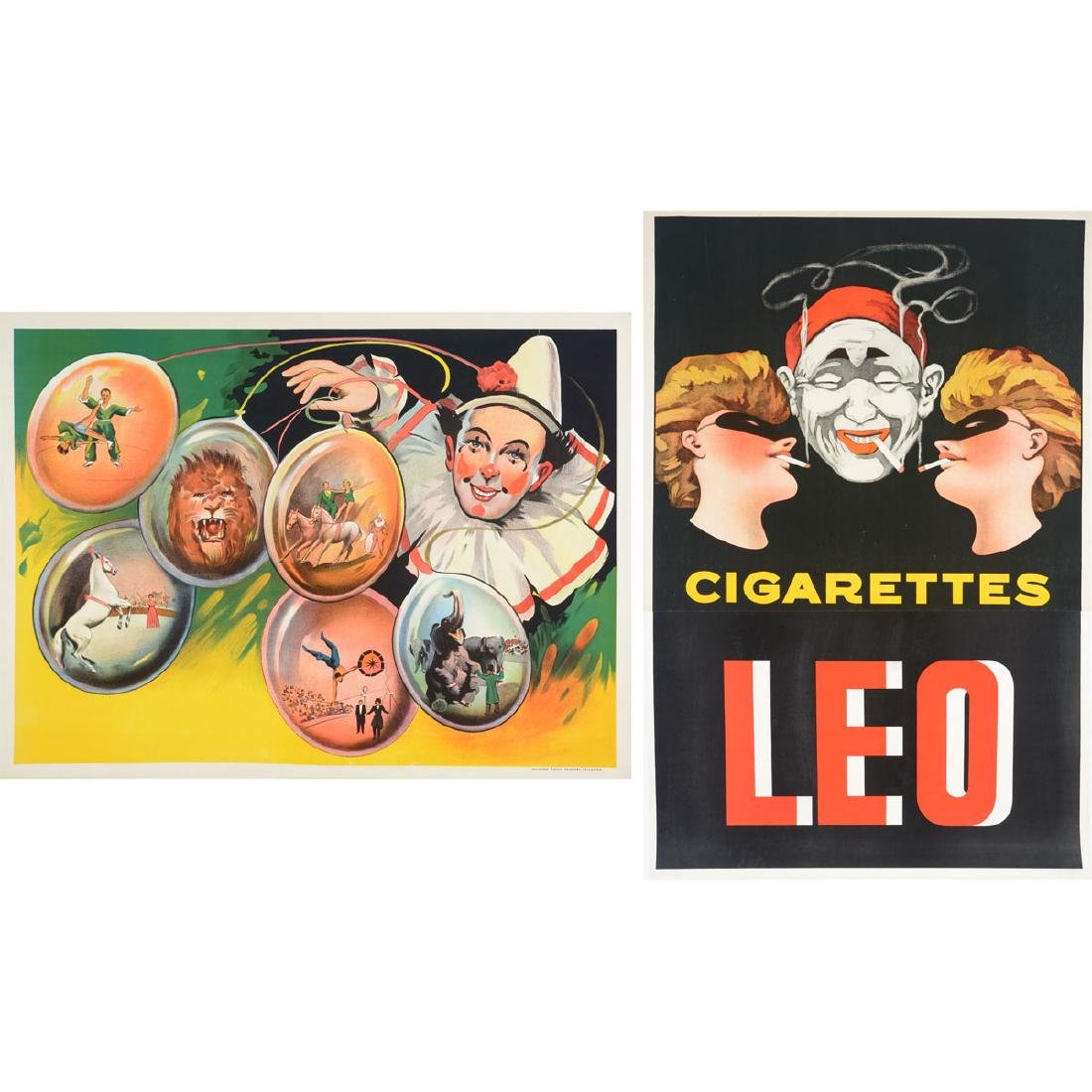 European lithograph posters Circus Stock & Cig. Leo