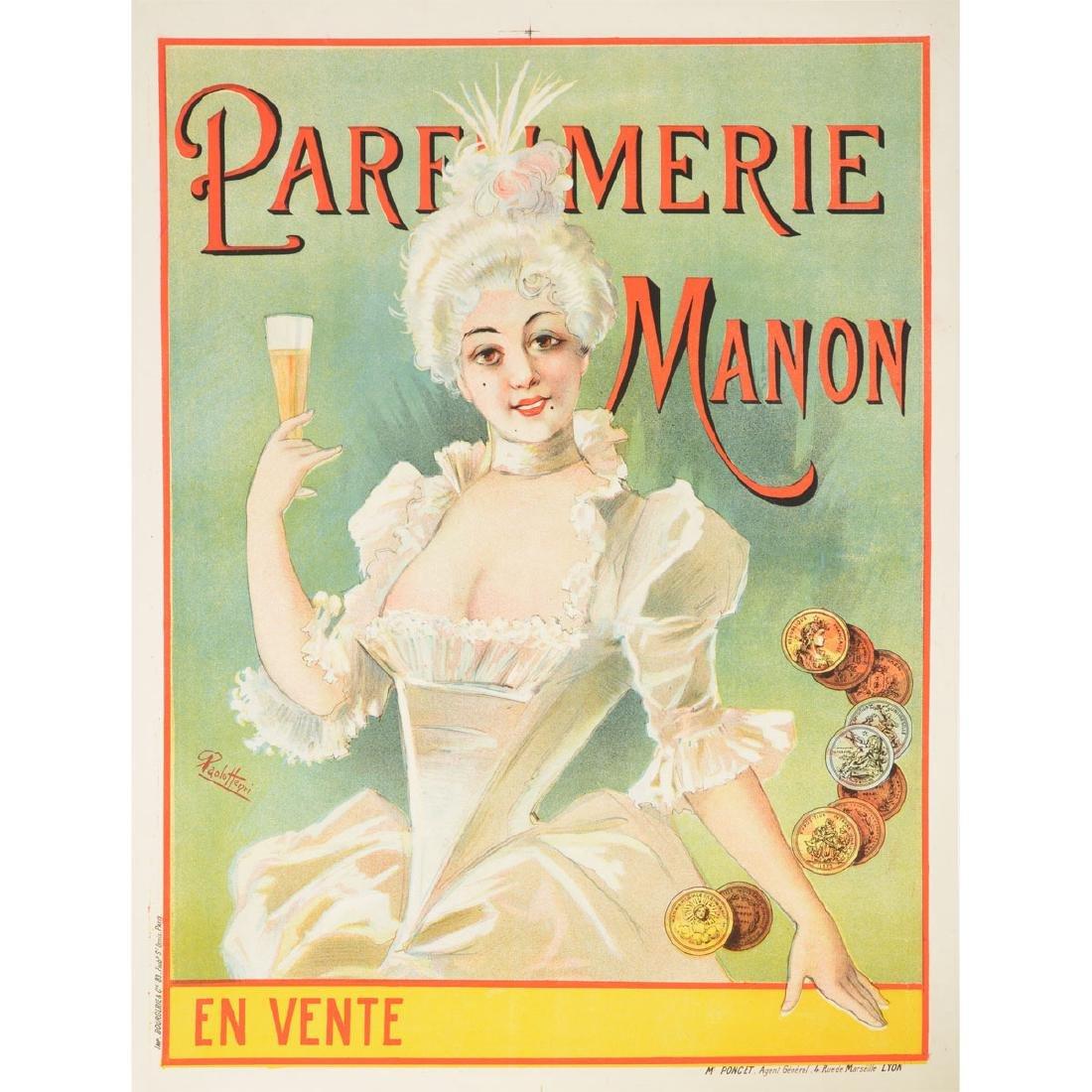 "After Paolo Henri ""Parfumeri Manon"" lithograph poster"
