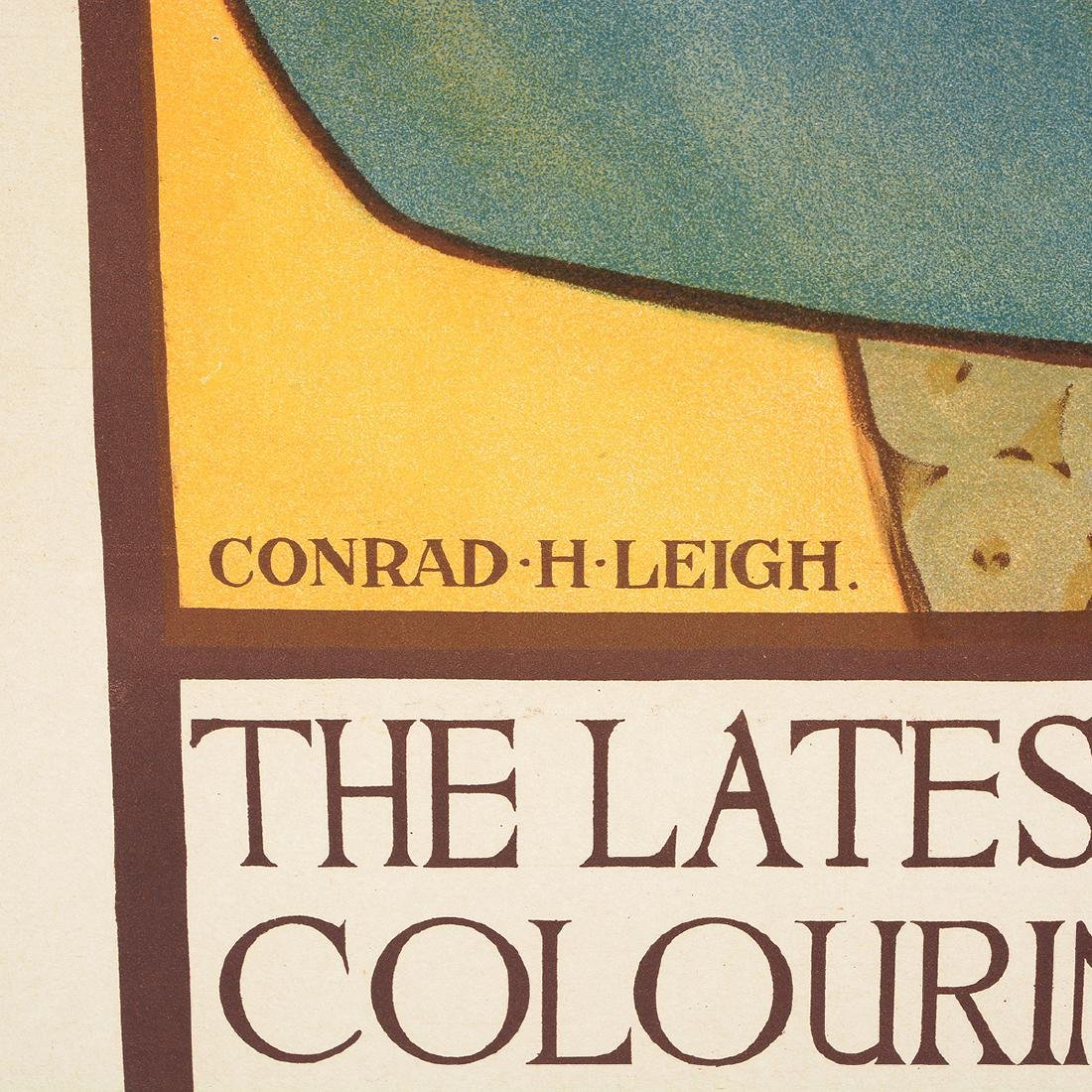 "After Conrad H. Leigh ""Wallpaper"" lithograph Ad poster - 2"