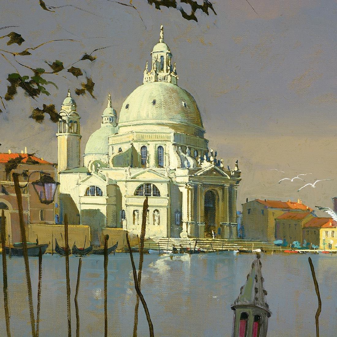 """Lucio Sollazzi """"Madona Dell Salute"""" oil on canvas - 3"""