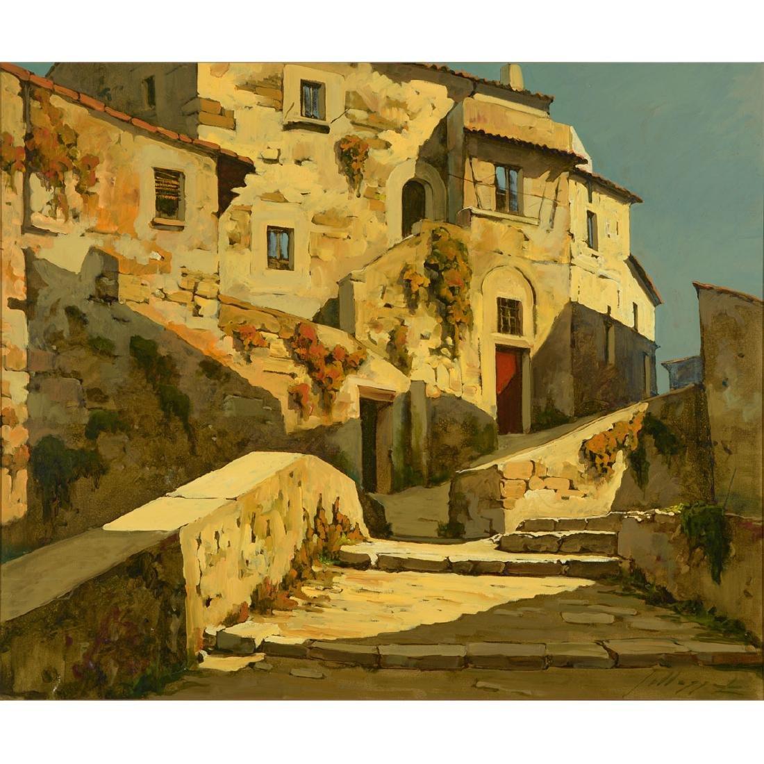 "Lucio Sollazzi ""Italian Afternoon"" oil on canvas"