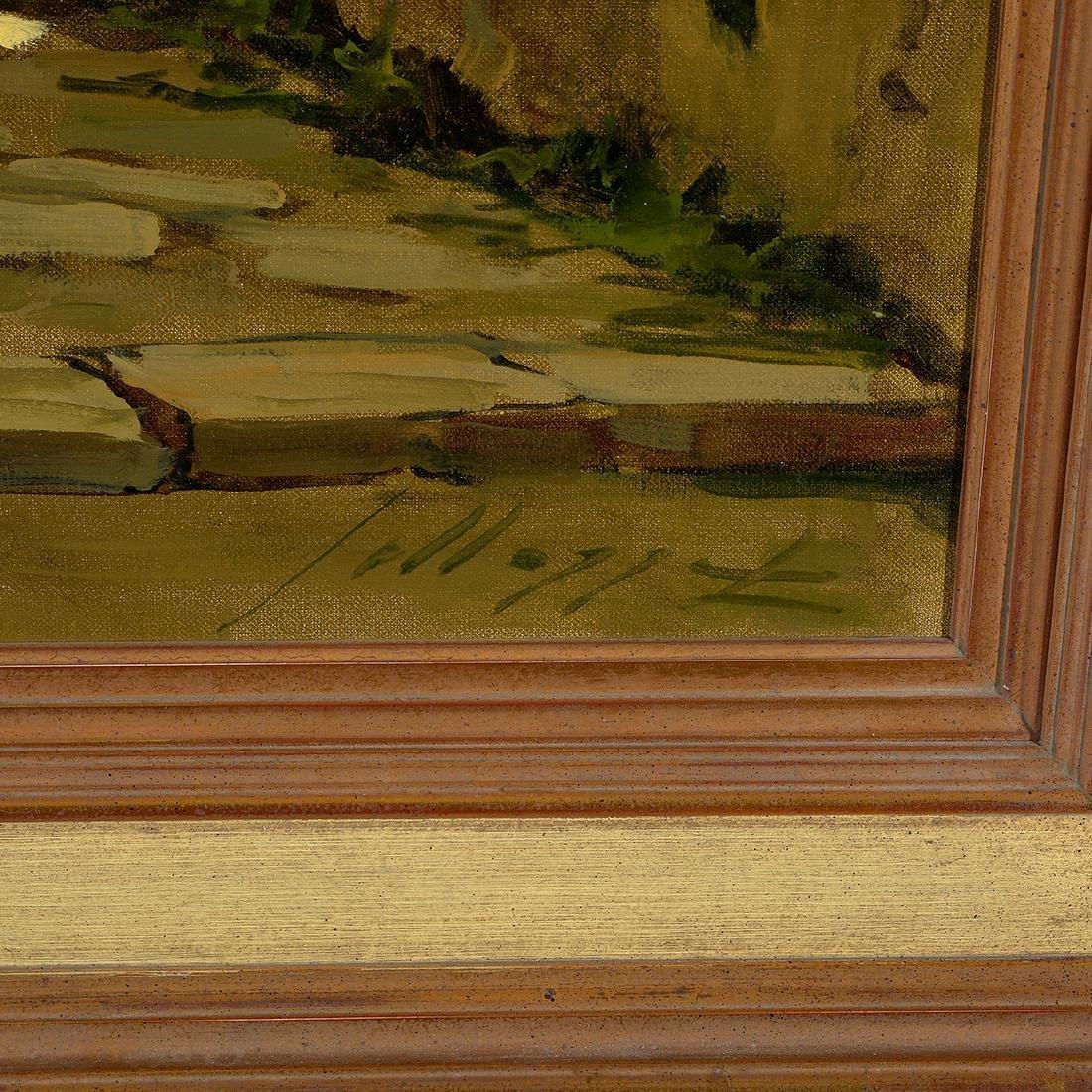 "Lucio Sollazzi ""Italian Afternoon"" oil on canvas - 2"