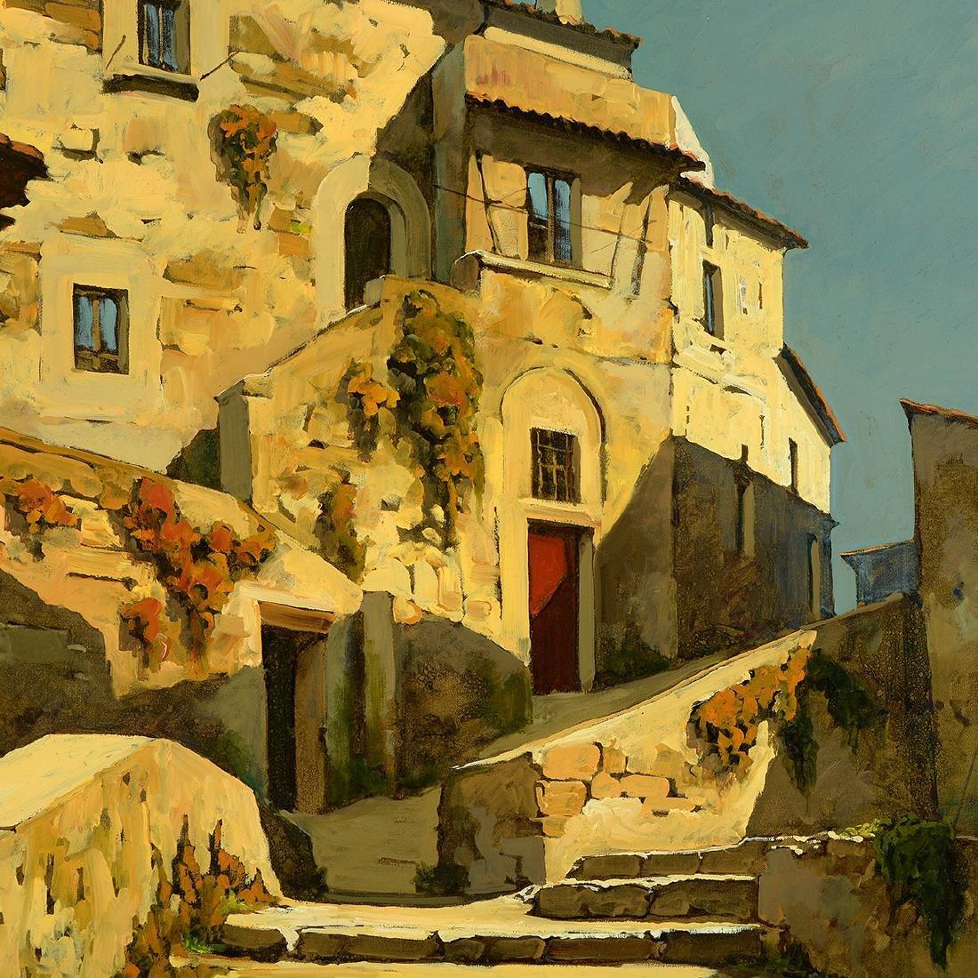 "Lucio Sollazzi ""Italian Afternoon"" oil on canvas - 3"