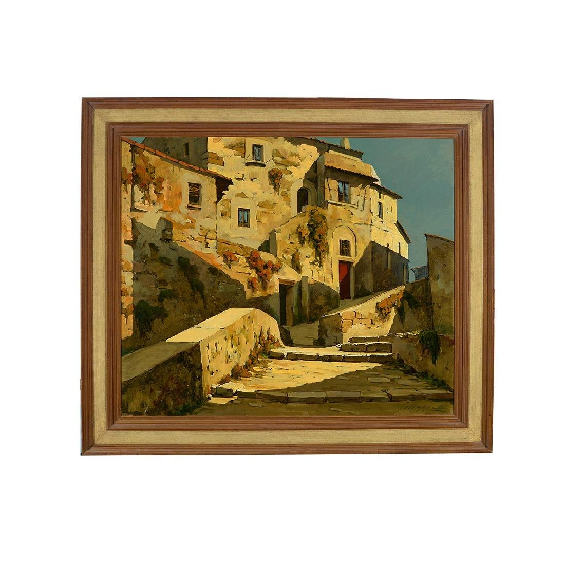 "Lucio Sollazzi ""Italian Afternoon"" oil on canvas - 4"