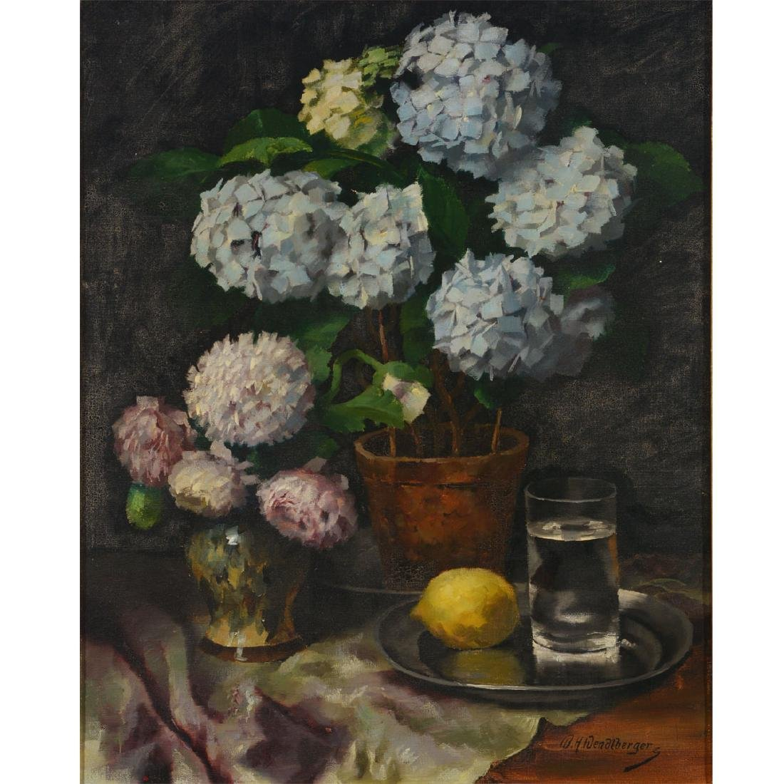 "Wenzel Wendelberger ""Floral Still Life"" oil on canvas"