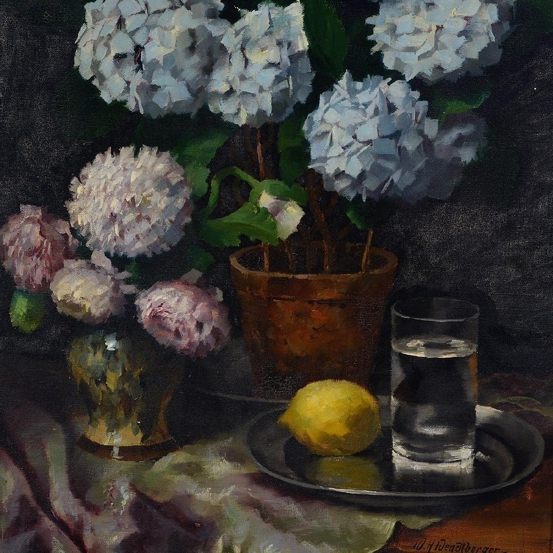 "Wenzel Wendelberger ""Floral Still Life"" oil on canvas - 3"