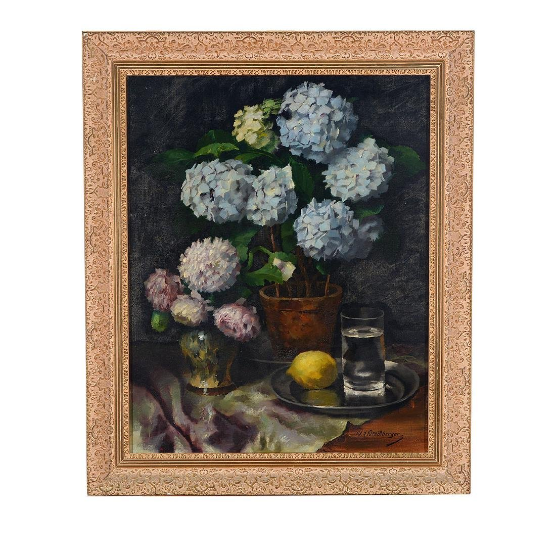 "Wenzel Wendelberger ""Floral Still Life"" oil on canvas - 4"