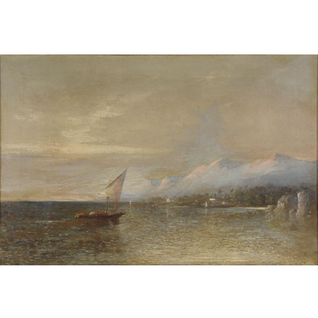 "European School ""Harbor Scene"" oil on canvas"