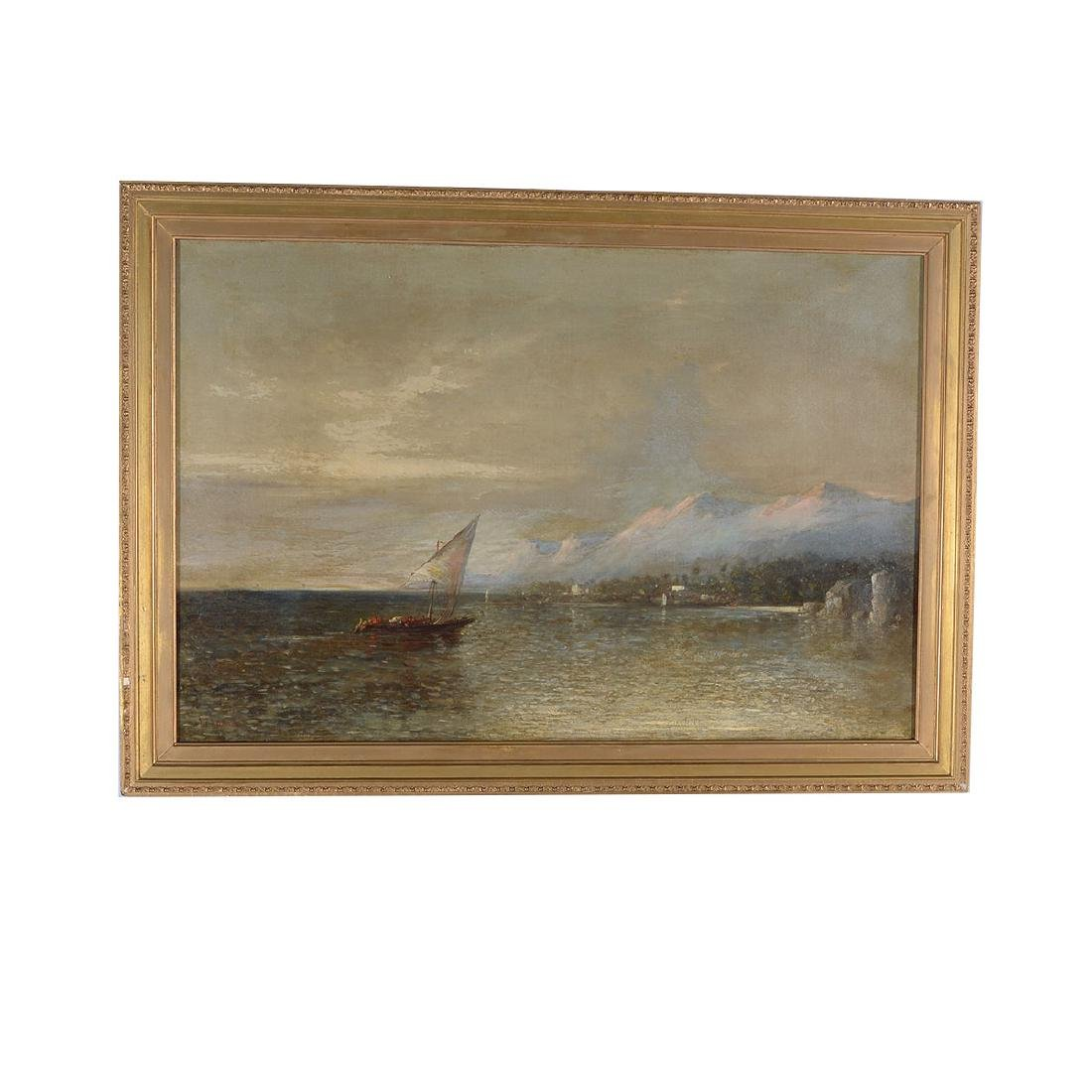 "European School ""Harbor Scene"" oil on canvas - 4"