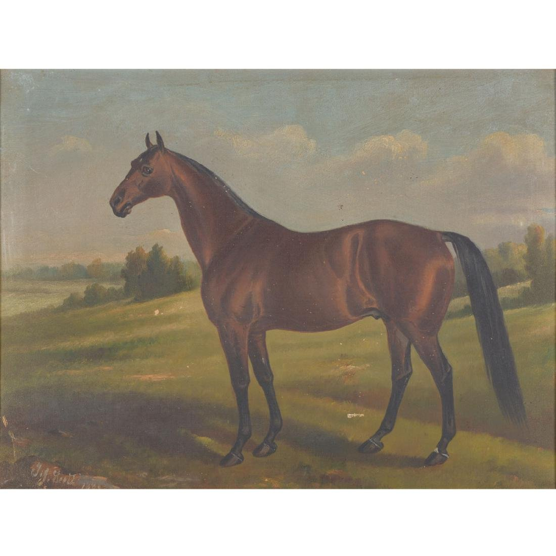 "19th C. portrait ""Electioneer"" Leland Stanford's Horse"